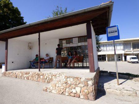 Автобусная остановка в Балчике