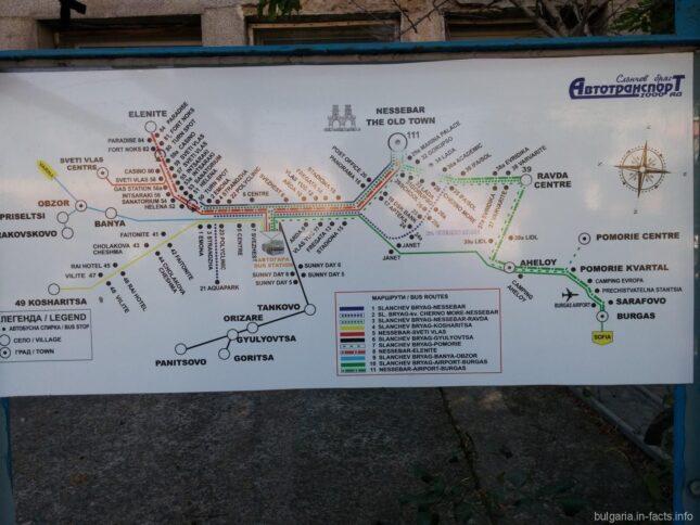 Автобусный маршрут в в Болгарии