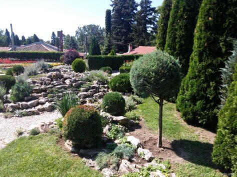 Альпийская горка в ботаническом саду Балчика