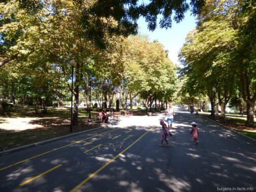 Велодорожки в парке Бургаса