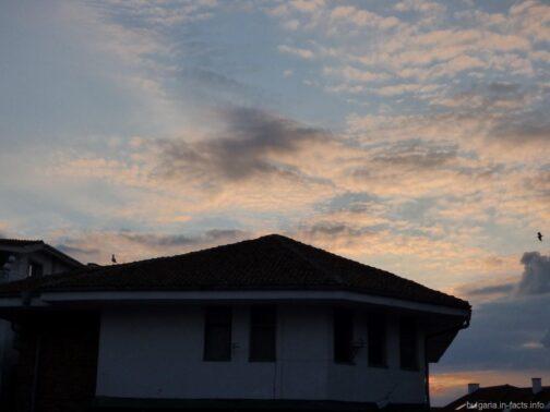 Вечернее небо Несебра