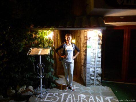 Вход в ресторан в Несебре Болгария