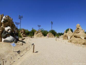 Выставка песчаных скульптур в Бургасе