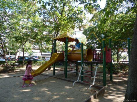 Детская площадка в парке Помория