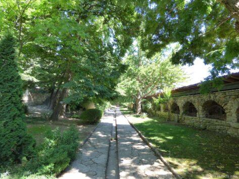 Зеленая аллея парка в Балчике
