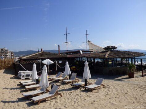 Кафе на пляже Солнечного берега
