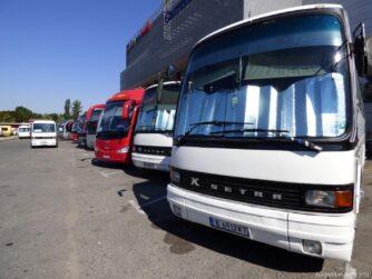 Комфортабельные автобусы на автовокзале Варны