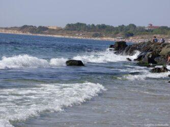 Красивое море и пляжи в Несебре Болгария