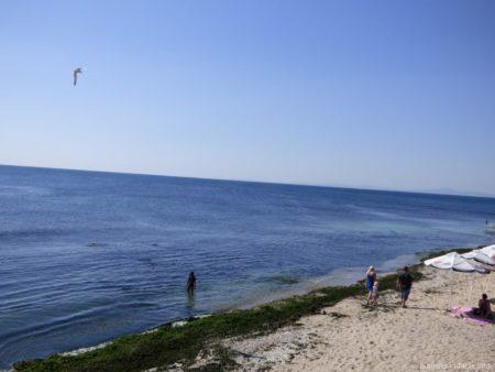 Кусочек пляжа в старой части Несебра