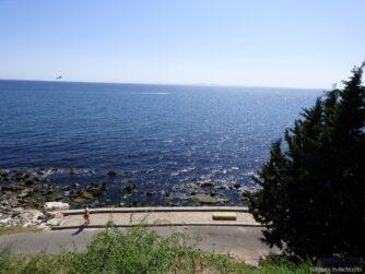 Морская панорама берега Несебра