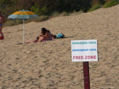 Пустынный пляж в Несебре