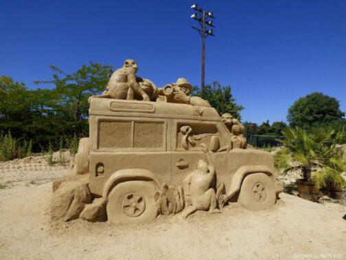 Фигуры из песка в парке Бургаса
