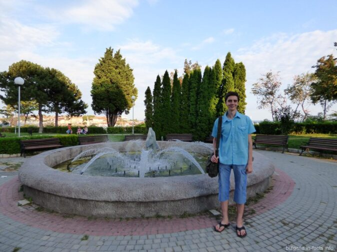 Фонтан в парке Несебра