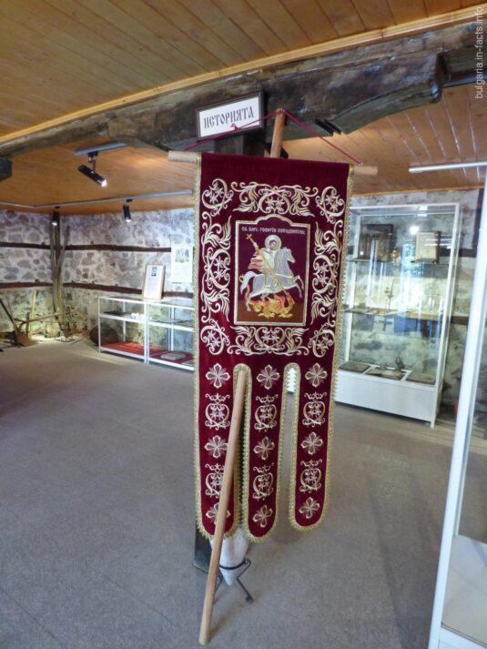 Хоругвь в музее Святого Георгия в Поморие