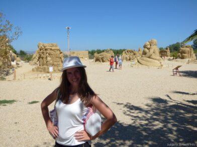Выставка песчаных скульптур курорт Бургас