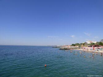 На пляжах Болгарии не много людей