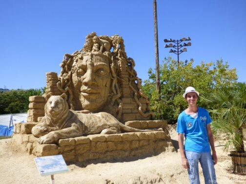 Песчаные скульптуры в Бургасе