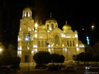 Собор Богородицы в Варне вечером