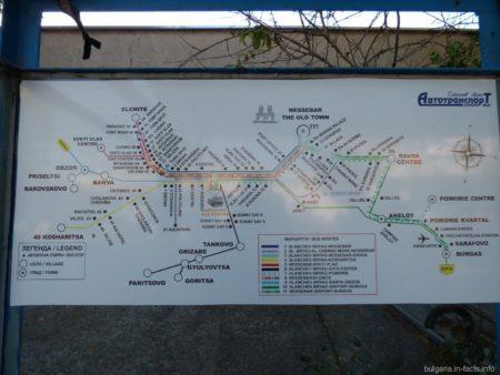 Расписание автобусов их Несебра и Солнечного берега