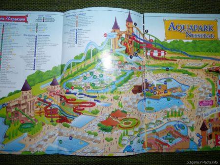 Карта аквапарка в Несебре