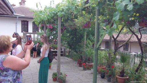 Цветы и виноград в монастыре